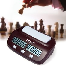 Professional LEAP Digital Chess Clock Count Up Down Timer Electronic Board Game Player Set Portable Handheld Man Piece Master