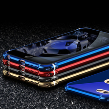 Glitter Cover For iPhone 6 6S Plus Case Luxury Metal Bumper With Back Mirror Panel Body Protection Bling Shell iPhone6S 6 s Bag