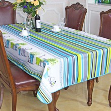 New Spring Summer Waterproof Pastoral Striped Table Cloth High Quality Tablecloth Table Cover manteles para mesa Free Shipping(China)
