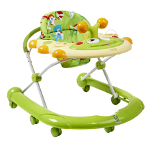 Best Selling 7-18 months Baby Car Anti Rollover Multifunctional Baby Walker U Type With Toys Plate Safety Folding Easy Step Car