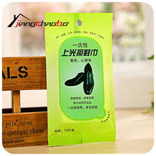 2Pcs/Lot Shoe Polish Shoe Decontamination Equipment Disposable Towel Leather Care Wipes(China)