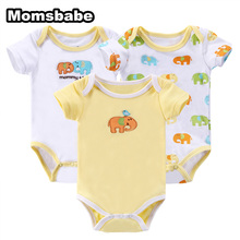 Retail 3-Pieces Baby Boy 100%Cotton Romper New Born Short Sleeve Baby Costumes Overalls Next Baby Newborn Clothes Body Ropa bebe