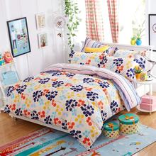 UNIKEA New Bedding Sets Love Home Vivid Colors Pillowcase Bed Sheet Duvet Cover 3/4pcs Twin Full Queen Soft Comfortable