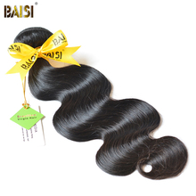 BAISI Body Wave Brazilian Virgin Hair 8-36inch Nature Color 100% Unprocessed Human Hair Bundles Free Shipping(China)