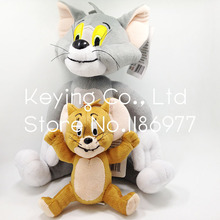 Tom Cat And Jerry Mouse Cute Anime Stuffed Animal Plush Toy Doll 2pcs Free Shipping Limited Collection Birthday Gift(China)