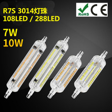 R7S silica gel LED Lamp SMD3014 7W 10W 78mm 118mm Light LED R7S Bulb Energy Saving Perfect Replace Halogen Lamp Free Shipping