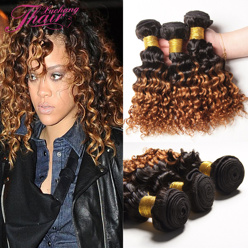 Top Quality Ombre Mongolian Kinky Curly Virgin Hair 3pcs Mongolian Tight Curly Ombre Human Hair Weave Dark Root Blonde 1B/4/27<br><br>Aliexpress