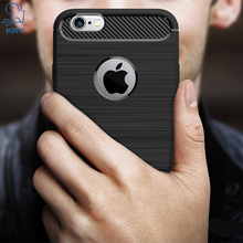 KRY Luxury Carbon Fiber Phone Cases For iPhone 6 Case Soft TPU Case For iPhone 6 6s Cover For iPhone 6s Case Capa Coque(China)