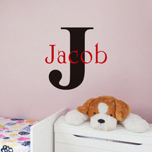 Personalised Lettering Sticky Words Wall Sticker Any Kids Name Wall Decal Removable First Letter Art Decal