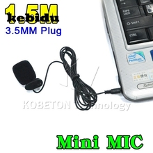 kebidu 1.5M 3.5mm Hands Clip On Mini Mic Microphone Studio Speech Lecture Microphone Computer PC Notebook Laptop for MSN Skype(China)