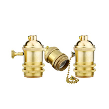 Wholesale Price Vintage E26/E27 Lamps Socket Holder/Base For Antique Light Bulb,Copper Lamp Holder,4 Models For Choise(HJ-50)(China)