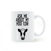 Ask me about my moo cow Mug Coffee Milk Ceramic Cup Creative DIY Gifts Home Decor Mugs 11oz T808
