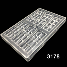 One Piece New Arrival 6x2Lines Chocolate Bar Mold Polycarbonate Jelly Mould Hard Injection PC Candy Tray Pastry Baking Dish