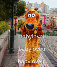 New Scooby dog mascot costume fancy party dress suit carnival costume fursuit business custom mascot