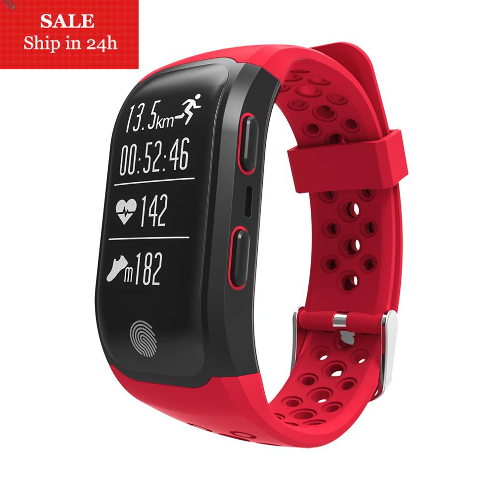 Smarcent IP68 Bluetooth Wearable Heart Rate Monitor Pedometer GPS Relogio Smart Watch Smart Device Android IOS