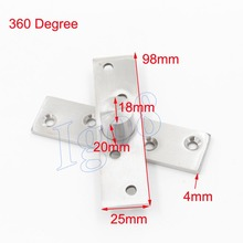 360 Degree 98mm x 25mm Stainless Steel Door Pivot Hinges 2PCS