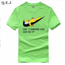 Q.E.J New Men's Letter Printing T-shirt Black & White T-Shirts Comics Con Cosplay summer Skateboard Skate Boy Tee T-shirts Tops