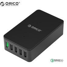 ORICO QSE Quick Charger QC2.0 4 Port Desktop USB Charger for Smartphones and Tablets with EU Plug-Black(China)