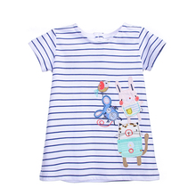stripe Baby girl dress girl party princess cotton stripe baby dress brand girls spring dresses kids dress for girls clothes