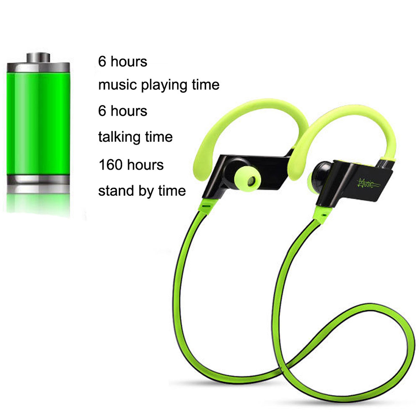 Aimitek S808 Wireless Sports Bluetooth Headphones Sweatproof Earbuds Running Headsets Noise Cancelling Stereo Earphones with Mic