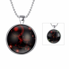 JEXXI Special Gift For Children Glowing Round Glass Pendant Fashion Luminous Sliver Necklace For Women/Men Free Shipping
