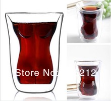 Wine Cup Novelty Doomed Sexy Girl Crystal Double Cup Glass Tea Cup