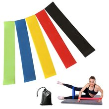Set of 5 ,12 inch Exercise Resistance Loop Bands Yoga Pilates With pouch for Stretching Physical Therapy Yoga and Home Fitness(China)