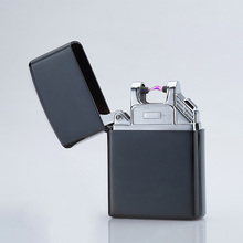 Pulse Arc Lighter Windproof Thunder Metal Cigarette Plasma Flameless Cigar Lighter USB Lighter Electronic Cigarette 5 color