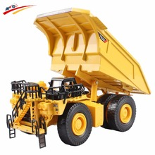 Alloy Diecast Dumper Mine Truck Tittle Cart 1:75 Metal Harvesters Truck Diecast Model Construction Collections Toy Hobbys(China)