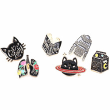 Micro chapter fashion jewelry charm women Girls bag coat collar joker graphics brooch popular adorn article