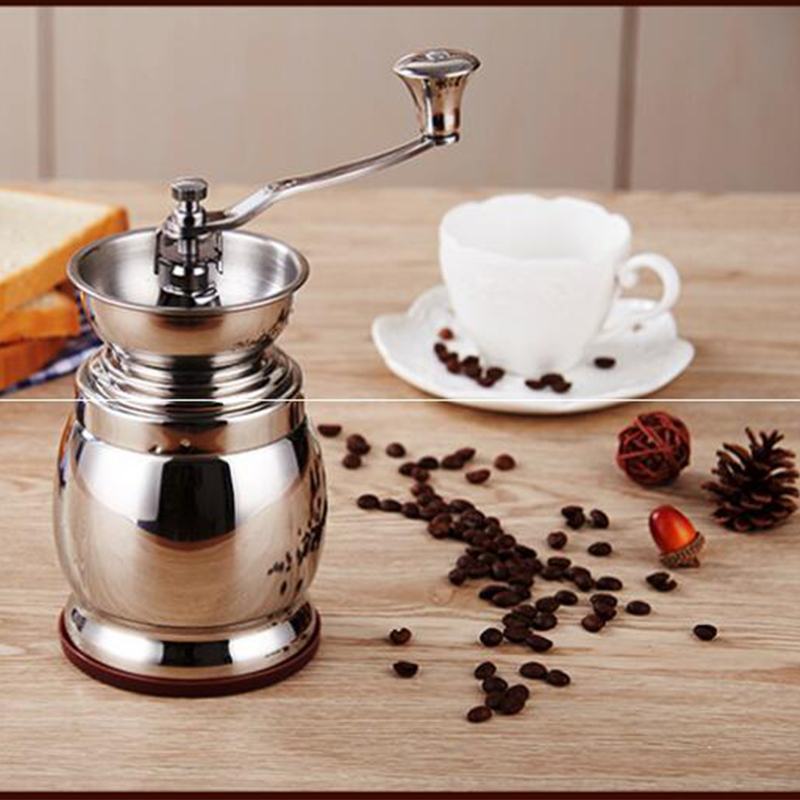 304 stainless steel hand grinding machine coffee beans grinding machine grinder home grinding machine<br>