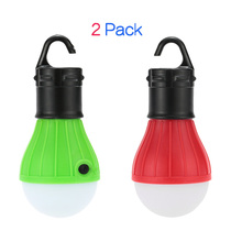 2Pcs Outdoor Camping Lantern RGBY 800 Lumens LED Tent Night Light Bulbs Lamps Garden Moving Lights Emergency SOS AAA Battery(China)