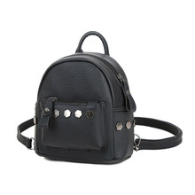 2017 best price Fashion Women Backpack Good Quality Rivet School Backpacks Leather Backpack travel bag gift wholesale A2000(China)