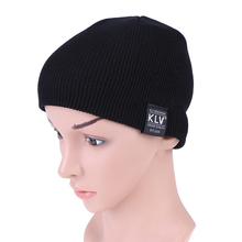 Baby Caps Hat Fashion Children Pure Color Pinstripe Short Skiing Hat 2017 Autumn Winter Kids Warm Woolen Hat Elastic Knitted Cap(China)