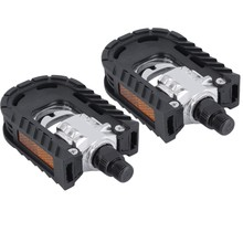 "1Pair MTB Mountain Bike Bicycle Fold Pedal Cycling Bicycle Pedals With Reflectors 9/16 "" Folded Pedals Black pedales bicicleta"