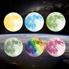 Multicolor Large Moon Luminous Wall Sticker For Kids Rooms Luminous Stickers Diy Moonlight Home Decor