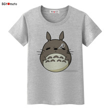 BGtomato famous cartoon Totoro t shirts for women super lovely cat shirts Brand good quality casual tops hot sale