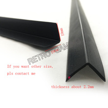 100pcs 61cm/pc 19*19mm 2mm tickness L molding for arcade cabinet plexiglass MOQ leave me message of the color you want(China)