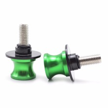 6 8 10 mm Motorcycle Swingarm Spools slider  stand screws Motorcycle Accessories For Kawasaki  ZZR1200  2002-2005  ZX-12R 2000-