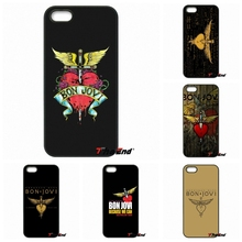 For iPhone 4 4S 5 5C SE 6 6S 7 Plus Samung Galaxy J5 J3 J7 A5 A3 S7 S6 Edge Bon Jovi Rock Band Fly Wings Logo Cell Phone Cover