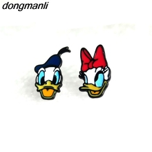 P319 dongmanli New 1 pairs Donald Duck Donald and daisy Earings Cartoon Women Girl Children kids Lovely Gifts