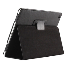 Business Flip Litchi Leather Case Smart Stand Holder For Apple ipad2 3 4 Magnetic Auto Wake Up Sleep CoverBlack(China)