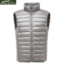 2017 New Brand Casual Sleeveless Jacket Men Autumn Winter 90% Ultralight White Duck Down Vest Male Slim Vest Mens Windproof Warm
