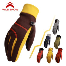 2017 new Korean Outdoor Snow Sport autumn and winter warm gloves men and women mountaineering Ski Mittens Snowboard Gloves(China)