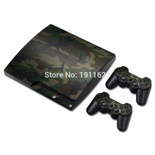 OSTSTICKER Camouflage Vinyl For PS3 Skin Sticker Cover For Playstation 3 Slim Console + Controller Decal(China)