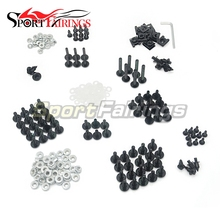 Complete Fairing Bolt Kit CNC Aluminium Clips Screws Fastener Hardware For Honda Suzuki Kawasaki Yamaha Motorcycle Bolts Black