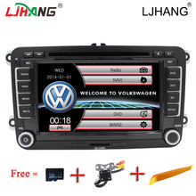 2DIN car multimedia auto Radio Stereo DVD Player for Volkswagen VW passat B6 Jetta Tiguan caddy sagitar VW GOLF Canbus IPOD GPS