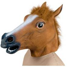 Creepy Horse Mask Head Masquerade Mask Spoof Devils In Animal Forms Props Toys Make Up Party Mark Props S