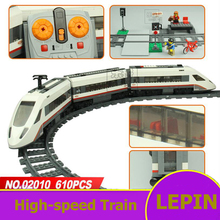 Lepin City Model Toys High-speed Passenger Train Remote Control Train Railway Platform Building Blocks Assemblage Gifts For Kids(China)