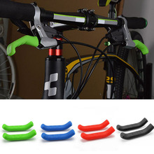 1 Pair Bicycle Protective Gear MTB Road Bike Brake Lever Protector Silicone Protective Handle Sleeves(China)